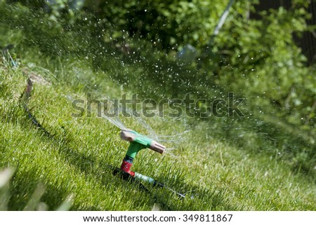 Irrigation of lawns