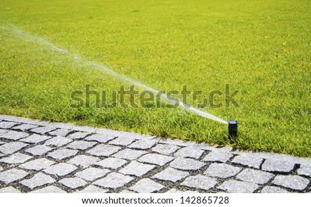 irrigation system - stock photo