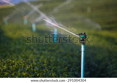 irrigation system for agriculture or garden