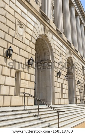 IRS Building in Washington DC - stock photo