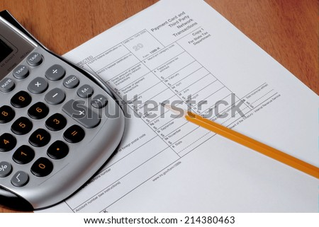 Irs Form 1099 Calculator Sharpened Pencil Stock Photo Royalty Free