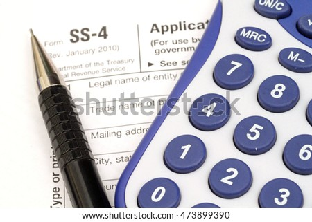 Irs Form Ss 4 Stock Photo Royalty Free 473899390 Shutterstock