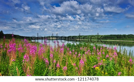Irtysh River, Western Siberia - stock photo