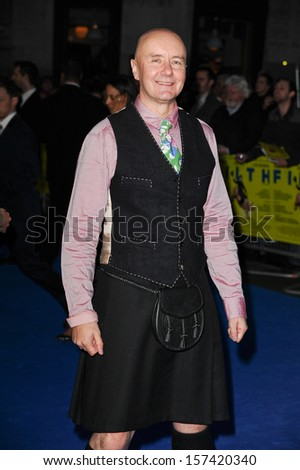 "Irvine Welsh arriving for the ""Filth"" premiere at the Odeon Leicester Square, London. 30/09/2013 - stock photo"