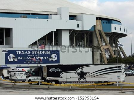 IRVING - NOV 14: Texas Stadium former home of the Dallas Cowboys football team. November 14. 2008 in Irving, Texas. - stock photo