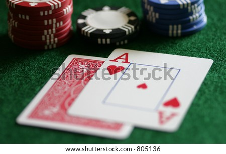 Is it blackjack or a bust?  Whether gaming or in business negotiations, many choices are a risk. - stock photo