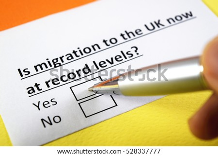 Is migration to the UK now at record levels? Yes