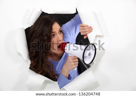 Is someone there? - stock photo