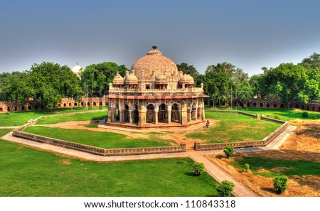 Isa Khan Tomb Enclosure, Humayun's Tomb Complex, New Delhi - stock photo
