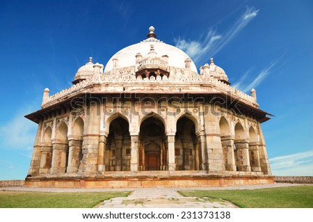 Isa Khan Tomb Enclosure, Humayun's Tomb Complex, New Delhi. India.  - stock photo