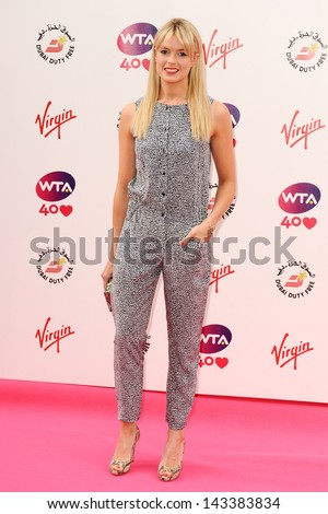 Isabella Branson arriving for the WTA Pre-Wimbledon Party 2013 at the Kensington Roof Gardens, London. 20/06/2013 - stock photo