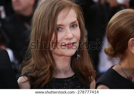 Isabelle Huppert  attends the 'Carol' Premiere during the 68th annual Cannes Film Festival on May 17, 2015 in Cannes, France. - stock photo