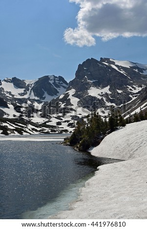 isabelle lake, indian peaks wilderness area, colorado - stock photo