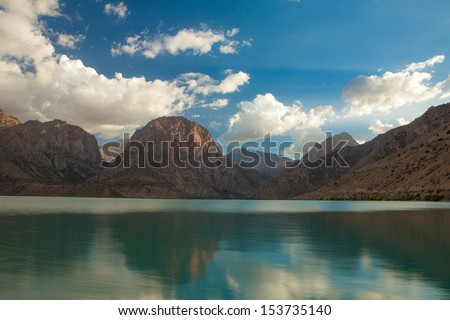 Iskader lake in Fann mountains, Tajikistan - stock photo