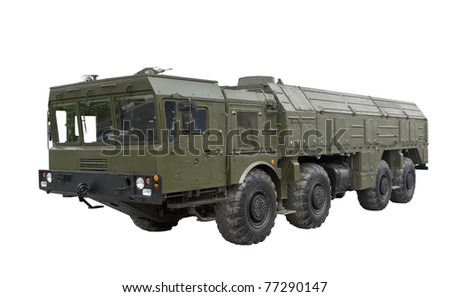 Iskander-M missile, equipped with a new cruise missile R-500 - stock photo