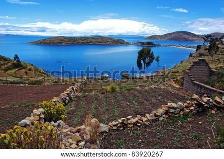 Isla del Sol, Lake Titicaca, Bolivia - stock photo