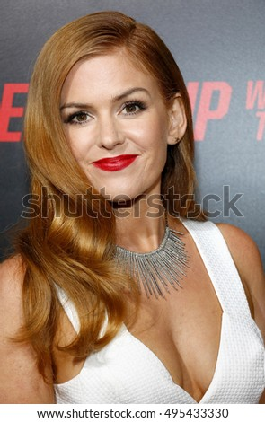 Isla Fisher at the Los Angeles premiere of 'Keeping Up With The Joneses' held at the Fox Studios in Los Angeles, USA on October 8, 2016.