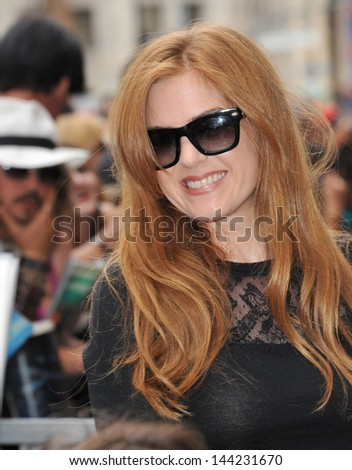 Isla Fisher on Hollywood Boulevard where Jerry Bruckheimer was honored with the 2,501st star on the Hollywood Walk of Fame. June 24, 2013  Los Angeles, CA - stock photo