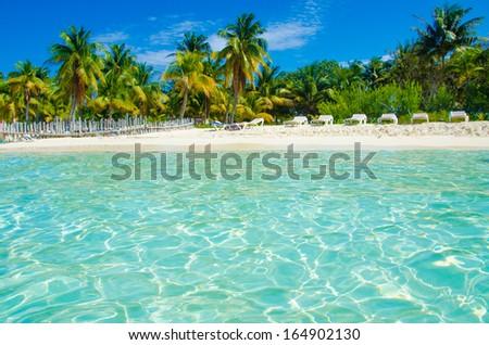 Isla Mujeres Beach Mexico - stock photo