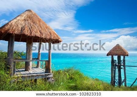 Isla Mujeres Caribbean Sea. Mexico - stock photo