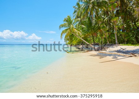 Isla Zapatilla 2, Panama, Central America - stock photo