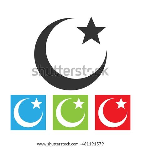 Islam Symbol Muslims Religion Sign Moon Stock Illustration 461191579