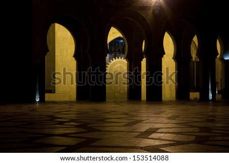 islamic architecture - stock photo