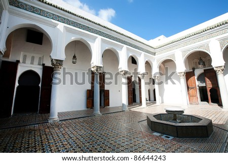 Islamic architecture in Tanger, Morocco, Africa