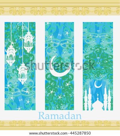 Islamic Banners set - Ramadan  - stock photo