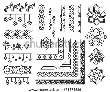 Islamic border design element doodle style stock illustration islamic border and design element in doodle style thecheapjerseys Image collections