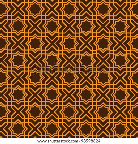 Islamic geometric pattern.Raster version - stock photo