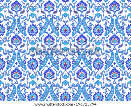 Islamic seamless pattern with flowers