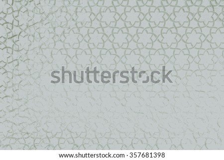Islamic stars motif pattern - stock photo