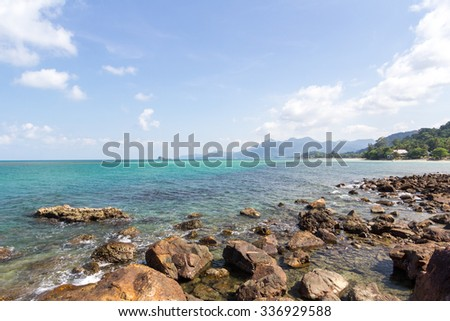 Island and sea. Summer background. Thailand