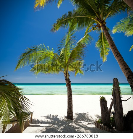 Island Boracay, Philippines  - stock photo