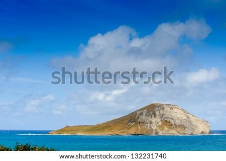 Island in Hawaii - stock photo