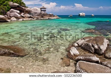 Island in southern Thailand, Koh Tao, Chumphon. - stock photo