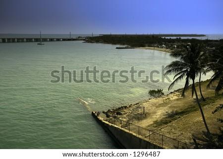 Island in the Keys, Florida USA - stock photo