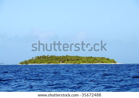 island in the pacific - stock photo