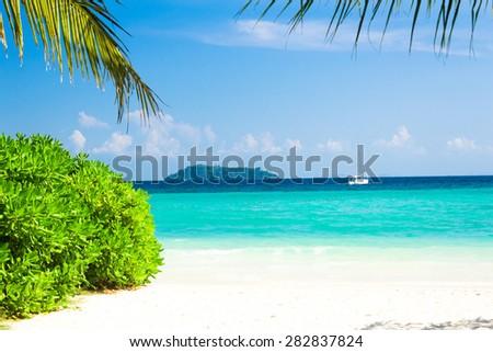 Island Lagoon Jungle and Sea  - stock photo