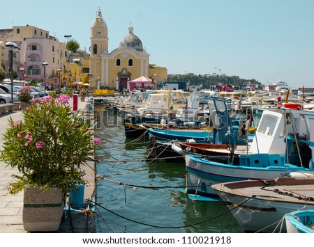 Island of Procida, Naples, Italy - stock photo