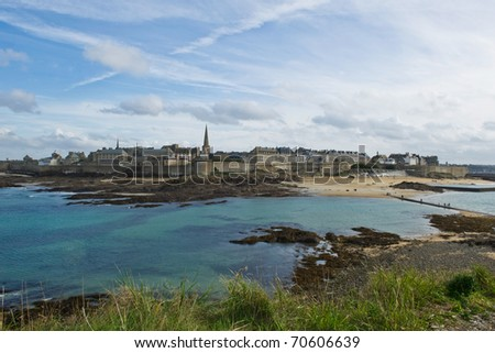 Island of St Malo - stock photo