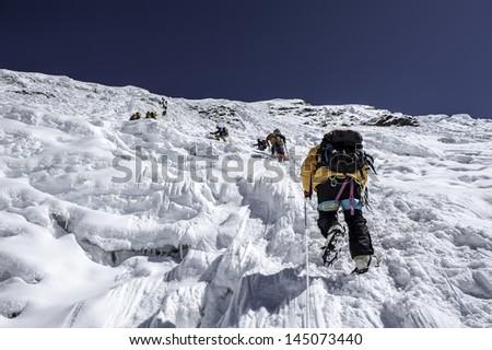 Island Peak Ridge - Nepal - stock photo
