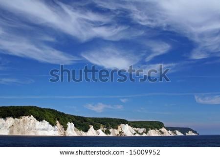 Island Rügen, Chalk Coast, Germany - stock photo