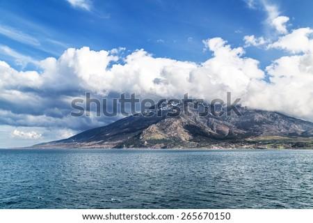 Island Samothraki in Greece - stock photo