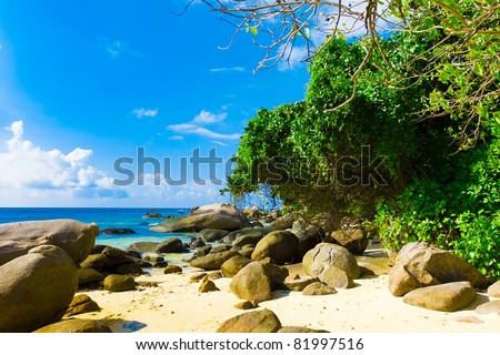 Island Storm Waves - stock photo