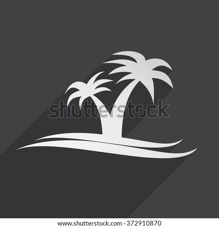 Island travel icon flat icon illustration - stock photo