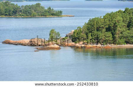 Islands in archipelago of Aland Islands, Finland - stock photo