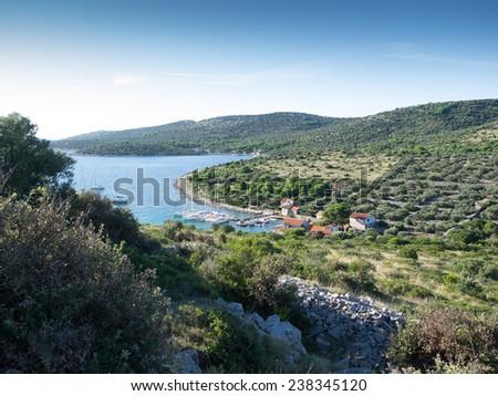 Islands in the Adriatic sea in Croatia - stock photo