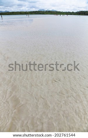 islands of the Maldives beach in a tropical landscape - stock photo